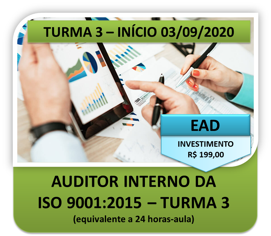 Auditor Interno da ISO 9001:2015 - T3 - EAD